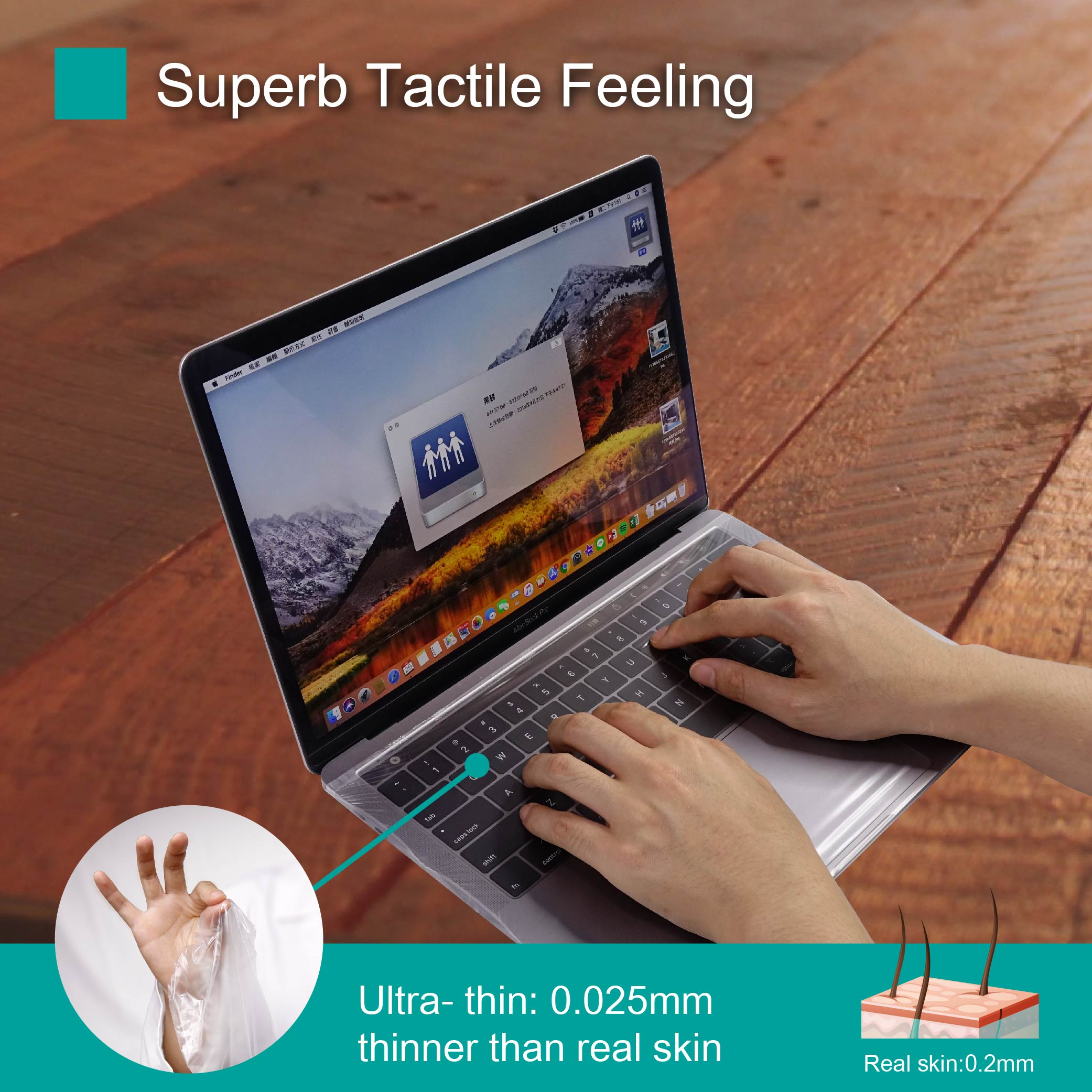 super thin material keyboard cover