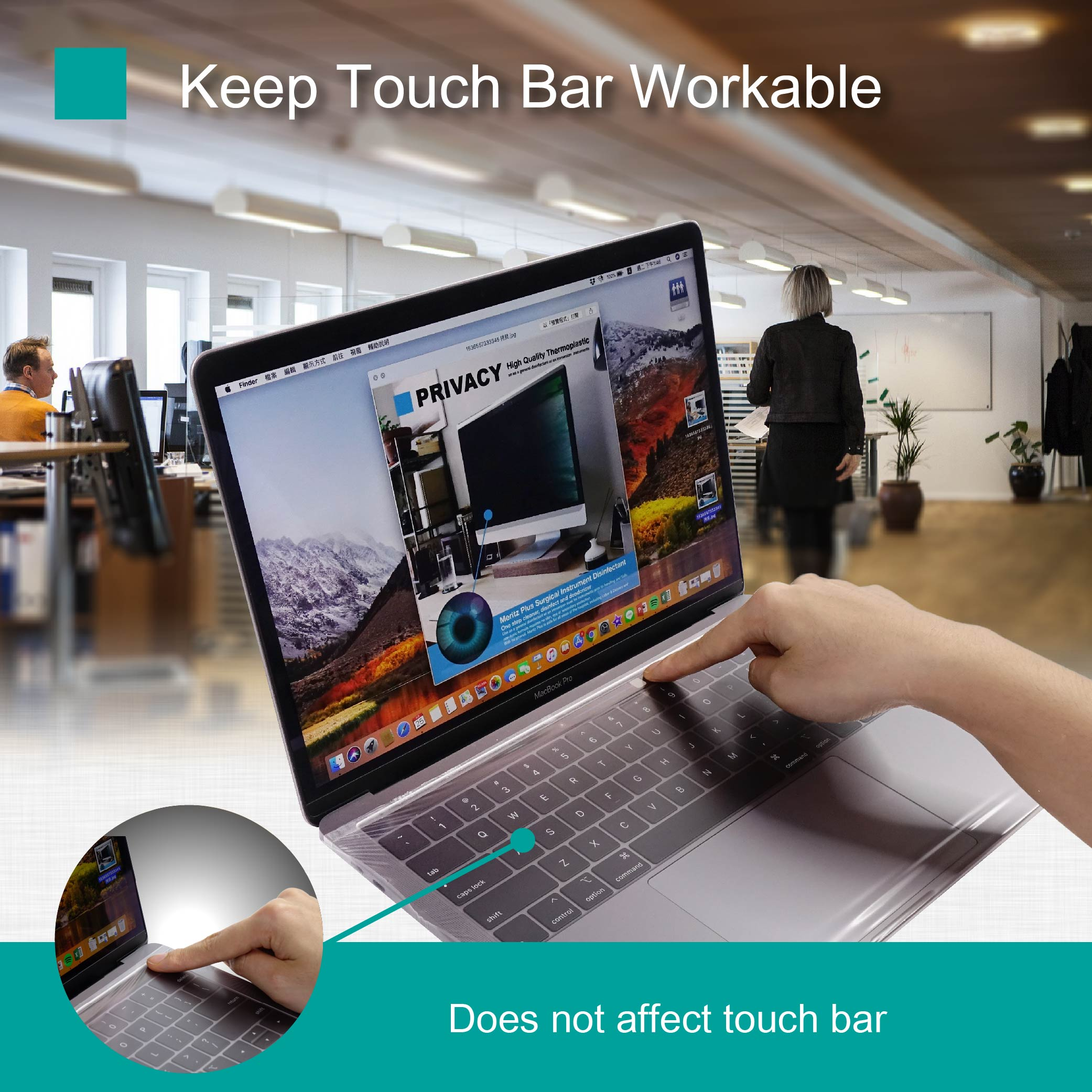 Macbook Pro touch bar workable